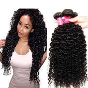 Sunber Hair Brazilian Curly Virgin Hair Weave 3 Bundles 6A Unprocessed Virgin Human Hair Extensions Natural Colour Can be Dyed and Bleached