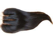Generic Invisible Weave Part-8.9cm x 10cm 3 Part Straight Hair Closure Human Hair 25cm 1 Pc