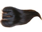 Generic Invisible Weave Part-8.9cm x 10cm 3 Part Straight Hair Closure Human Hair 25cm 1 Pc