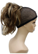 Strong Ponytail Extension Hairpiece Short Wavy Claw Clip in/on Hair Piece Amazing Shape for You