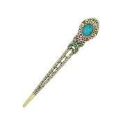 Eastlion Antique Bronze Diamond Butterfly Hairpins Hair Stick Multicoloured
