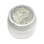 Medius Long-Lasting Glitter Powder Glue Nail Polish Soak Off Uv Lamp Gel White