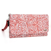 Fashion wallet case (Red Rouge) multi purpose organiser ( ID holder, coin purse, phone pocket) fits