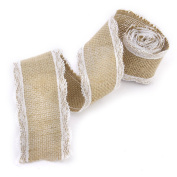 ULTNICE 2M Jute Lace Craft Ribbon for DIY Wedding Decor