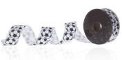 2.2cm Soccer Grosgrain Ribbon - 4yards