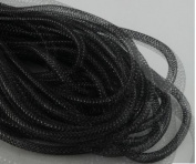 Deco Mesh Flex Tubing with Metallic Foil (Black) 30 Yards