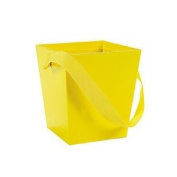 Bucket W/ Ribbon Handle - Yellow