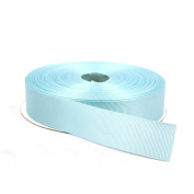 2.5cm Baby Blue Double Face Solid Grosgrain Ribbon 50 Yards-Roll Multiple Colours Available by Topenca Supplies