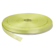 1cm Light Yellow Double Face Solid Satin Ribbon 50 Yards-Roll Multiple Colours Available by Topenca Supplies