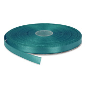 1cm Turquoise Double Face Solid Satin Ribbon 50 Yards-Roll Multiple Colours Available by Topenca Supplies
