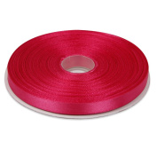 1cm Fuchsia Double Face Solid Satin Ribbon 50 Yards-Roll Multiple Colours Available by Topenca Supplies