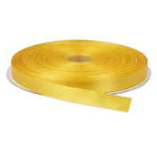 1cm Dark Yellow Double Face Solid Satin Ribbon 50 Yards-Roll Multiple Colours Available by Topenca Supplies