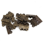 BQLZR Decorative Vintage M Size Mini Butterfly Hinges For Drawer Jewellery Box Pack Of 20