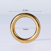 WUTA Leather Pack of 10 Solid Brass Round Ring Craft Tools Various Sizes for Choose