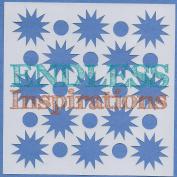 Endless Inspirations Original Stencil, 15cm x 15cm , Starbursts & Circles