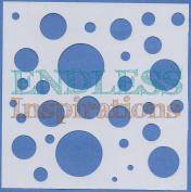 Endless Inspirations Original Stencil, 15cm x 15cm , Big Bubbles