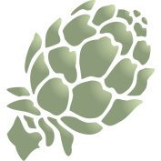 Artichoke Stencil - (size 11cm w x 13cm h) Reusable Wall Stencils for Painting - Best Quality Vegetable Kitchen Stencil Ideas - Use on Walls, Floors, Fabrics, Glass, Wood, Terracotta, and More...