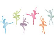 Ballerinas Stencil - (size 37cm w x 18cm h) Reusable Wall Stencils for Kids Rooms - Best Quality Nursery Girls Room Stencil Ideas - Use on Walls, Floors, Fabrics, Glass, Wood, Terracotta, and More...