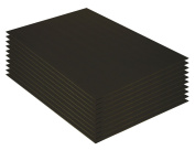 Mat Board Centre, Pack of 10 50cm x 60cm BLACK Foam Core Backing Boards