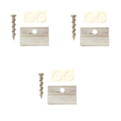 OOK 55314 Wall Picture Hanger with Friction Bumpers, Supports Up to 18kg, 3pc