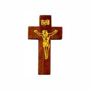 Crucifix Pocket Cross Wood 4.4cm Tall Pack of 100 Dark Crosses