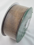 Kirkland Signature Brown Wire Edge Ribbon - 50 yards