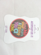 "Hallmark - Lennon & McCartney Gift Trim 7.6cm Circle ""Lend me your ears..."""