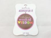 """Hallmark - Lennon & McCartney Gift Trim 7.6cm Circle """"Whisper words of Wisdom"""""""