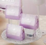 Wishmade Elegant Purple Laser Cut Favour Box DIY Wedding Candy Box Gift box CB003 Match Invitation Card CW003