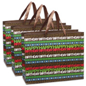 Lot of 6 - HAPPY BIRTHDAY Gift, Shopping, Party, Paper Bags