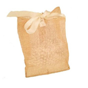 Jones International Natural Sinamay Square Bottom Ribbon Drawstring Gift Bags