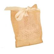Jones International Natural Sinamay Square Bottom Ribbon Drawstring Gift Bags