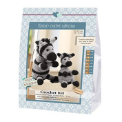 Go Handmade Paula 15cm & Peter 9cm The Zebras Crochet Needlework Kit, All Parts & Materials Included!