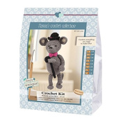 Go Handmade Gentleman Eliot The Mouse 22cm Crochet Needlework Kit, All Parts & Materials Included!