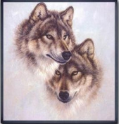Dahlia DIY Totem Wolf Animal Counted Cross Stitch Kits 11CT Print Embroidery Handmade Needlework Wall Home Decor
