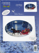 Candamar Red Sleigh Christmas Card Embellished Cross Stitch Kit