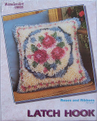 WonderArt Latch Hook Rug Kit 4019 Roses and Ribbons