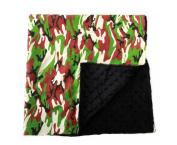 Baby Minky Receiving Blanket - 80cm x 80cm Nursing - Cotton Polyester - Black Camo