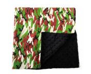 Baby Minky Receiving Blanket - 80cm x 80cm Nursing - Cotton Polyester - Black Camo