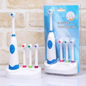 Xyindia(TM)Powered Electric Toothbrush Waterproof Automatic Tooth brushes with 4 Brush Heads massager toothbrushes Oral Hygiene Dental Care
