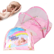 Baby Mosquito Net Tent With Pillow Pink