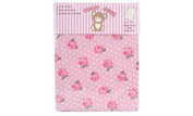 Honey Baby 100% Cotton Girls Fitted Crib & Toddler Bed Sheet