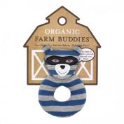 ORGANIC FARM BUDDIES PLUSH TEETHING RATTLE ROBBIE RACCOON