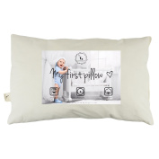DorDor & GorGor Toddler Pillow WITH PILLOWCASE, Organic Cotton, Beige, 33cm x 46cm