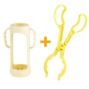 RyanLemon Baby Milk Bottle Accessories, Bottle Clamp / Pliers + Bottle Protector, Baby Gift Set