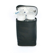 Tall Leak-Proof Lining, Two Cool Bottle Bag, Black