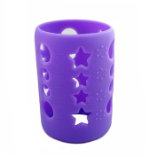 Silicone Protective Bottle Cover 120ml Glass Baby Feeding Milk Bottle Sleeve Protect Insulating Case - Purple