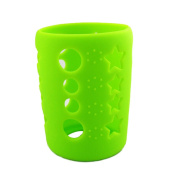 Silicone Protective Bottle Cover 120ml Glass Baby Feeding Milk Bottle Sleeve Protect Insulating Case - Green