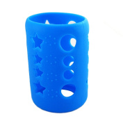 Silicone Protective Bottle Cover 120ml Glass Baby Feeding Milk Bottle Sleeve Protect Insulating Case - Blue