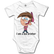 Babys Boy's & Girl's New Design I Am A Big Brother T-shirt White